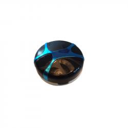 Lenshouder doosje Chique rond blauw/zwart